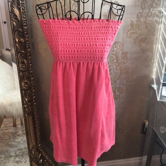 a6e6a893789e0 Juicy Couture Other - Juicy Couture terry cloth smocked cover up dress